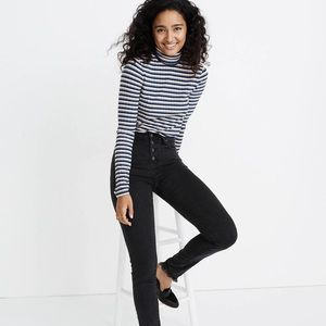 """Madewell 9"""" Midrise Button Up Skinny Jeans New"""